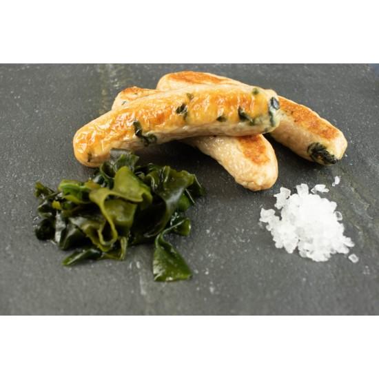 Pork, Seaweed and Seasalt  Natural skins